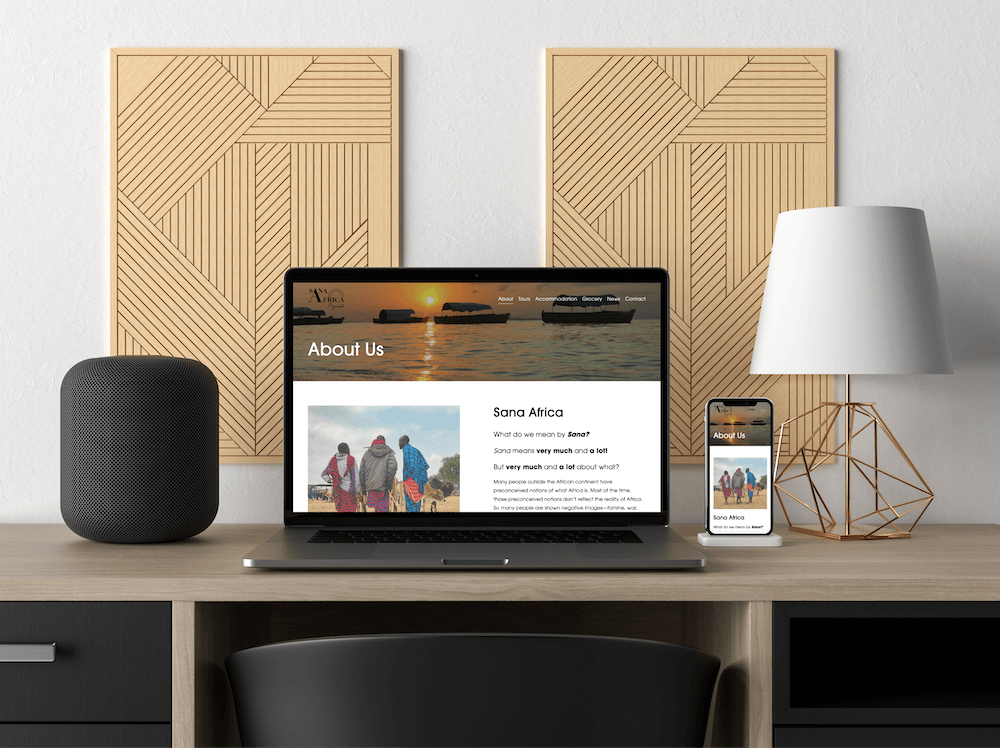 MacBook and iPhone mockup of a multi-purpose projects website